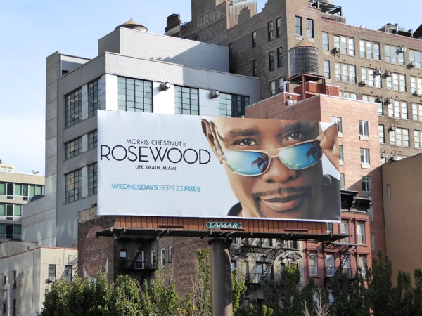 Rosewood series launch billboard NYC