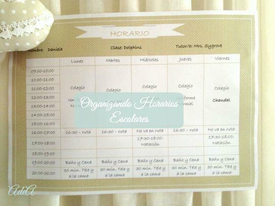 Organizando Horarios Escolares