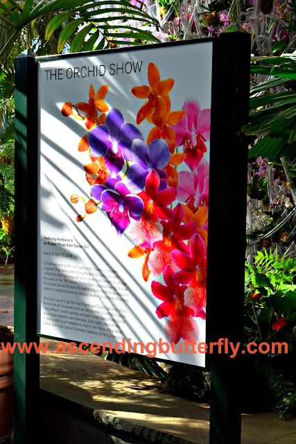 Orchid Show Signage at New York Botanical Garden Orchid Show 2018 #OrchidNYBG