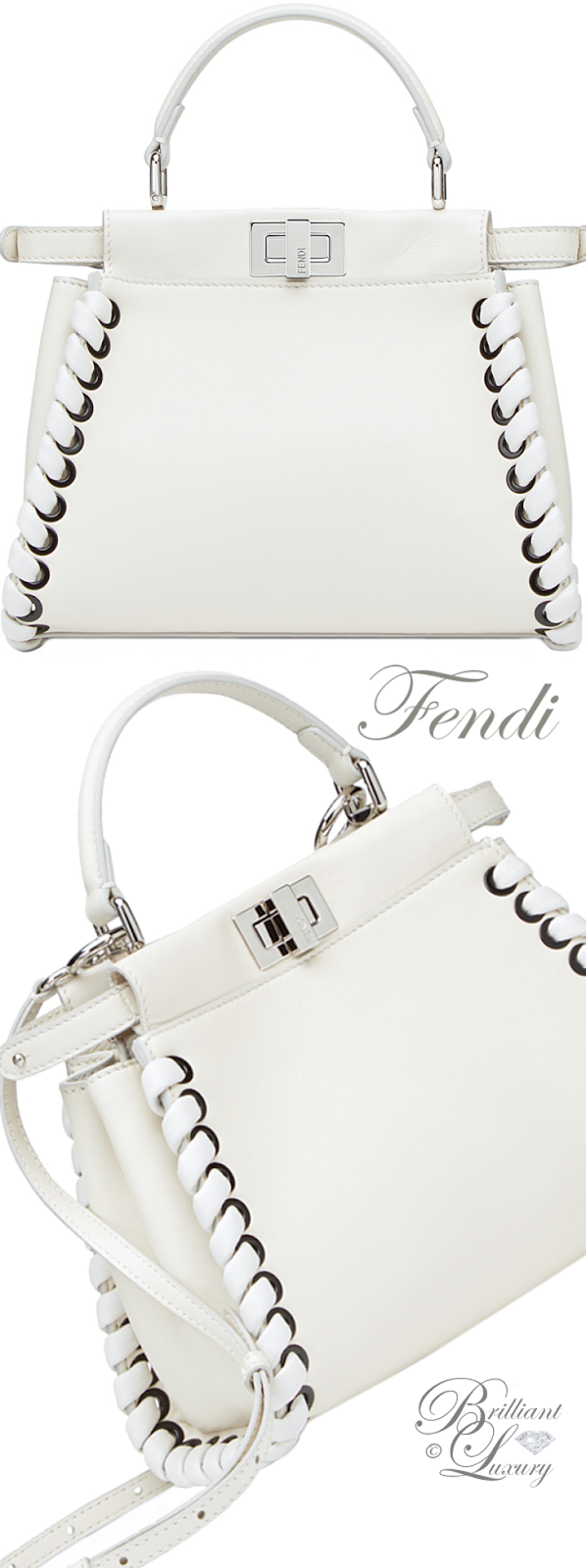 Brilliant Luxury ♦ Fendi Mini Peekaboo Bag