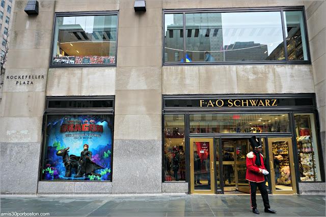 Soldadito en la FAO Schwarz del Rockefeller Plaza, Nueva York