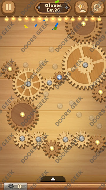 Fix it: Gear Puzzle [Gloves] Level 26 Solution, Cheats, Walkthrough for Android, iPhone, iPad and iPod