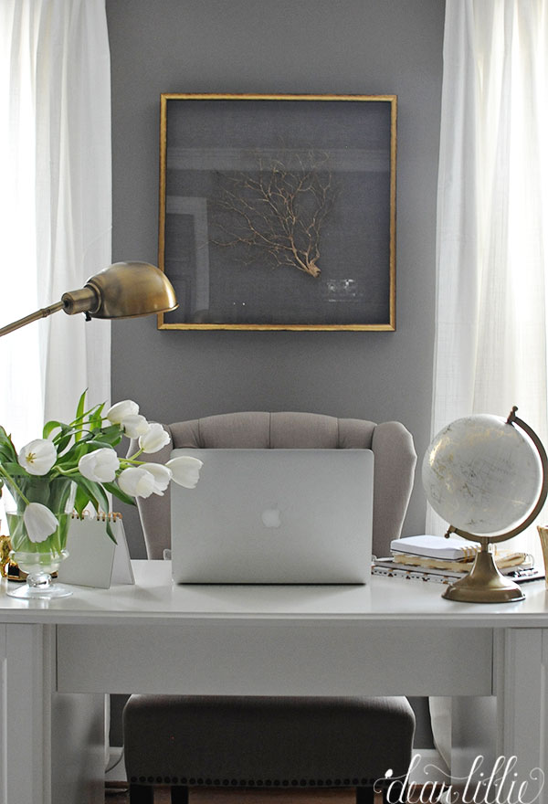 dear lillie a little progress in the office. Black Bedroom Furniture Sets. Home Design Ideas
