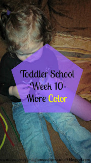 Toddler School - Week 10 - More Color