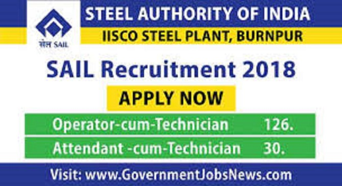 SAIL Recruitment 2018 Technician 156 various post apply online