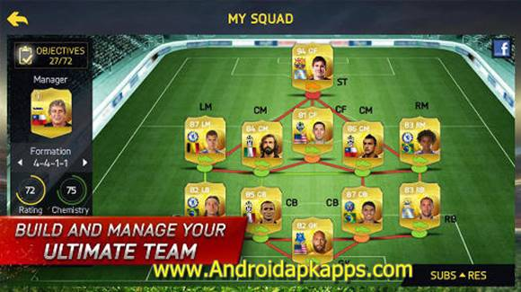 Free Download FIFA 15 Ultimate Team Patched Apk v1.5.6 (Non-Root) Full OBB Data Terbaru Gratis