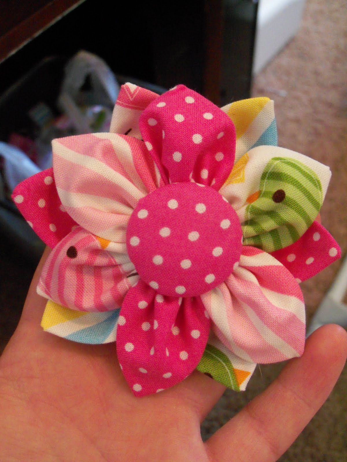 Our Little Life Fabric Flower Tutorial