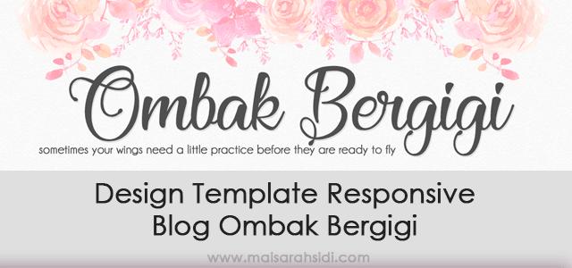 Design Template Responsive Blog Ombak Bergigi