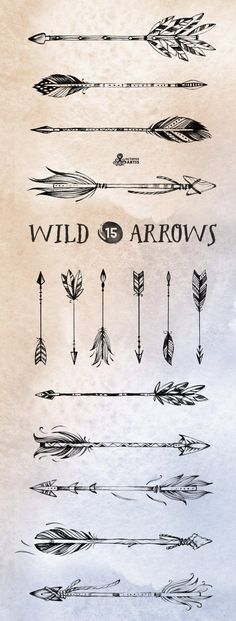 Wild Arrow Tattoo Designs