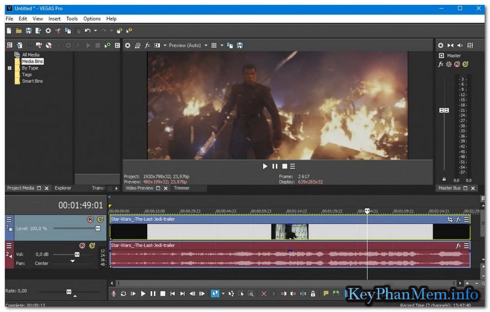 MAGIX Vegas Pro 15.0.0 Build 361 Full Key, Phần mềm hỗ trợ xây dựng và biên tập phim