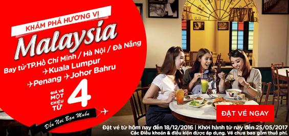 Mua vé máy bay khám phá hương vị Malaysia