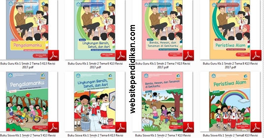 Download Buku Tematik Terpadu Kurikulum 2013 Revisi 2017 Kelas 1 SD-MI Semester 2 Tema 5, 6, 7, dan 8