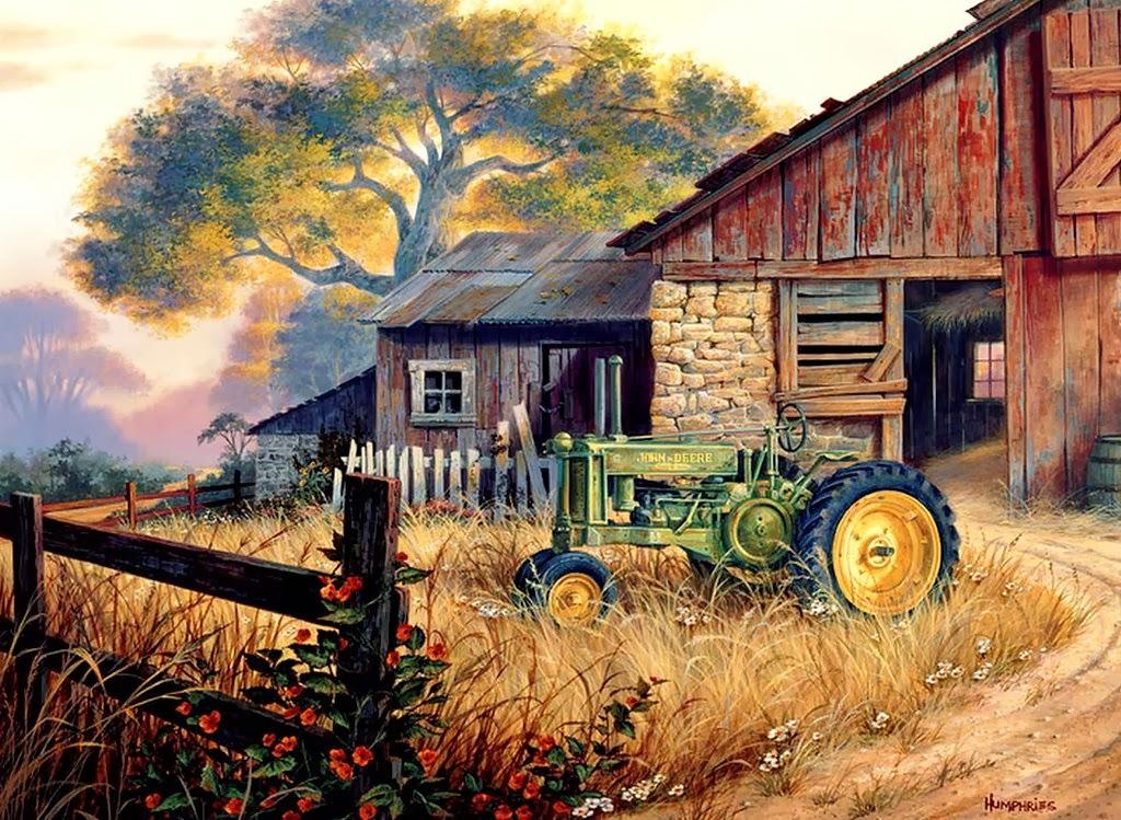 Cuadros modernos pinturas y dibujos paisajes al leo de estados unidos de am rica - Casa rural la granja ...