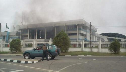 Photos: Explosion Kills 18 At Central Bank of Nigeria(CBN), Calabar