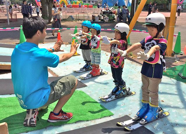 はじめてのスキー練習!パンダルマンキッズスクールスキーの無料体験イベントが近くのららぽーとで開催