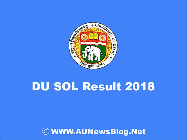 DU SOL Result 2018 published at sol.du.ac.in
