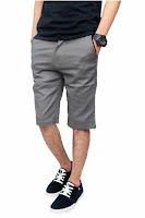Alfacart Celana Pendek Chino Pants Abu-Abu ANDHIMIND