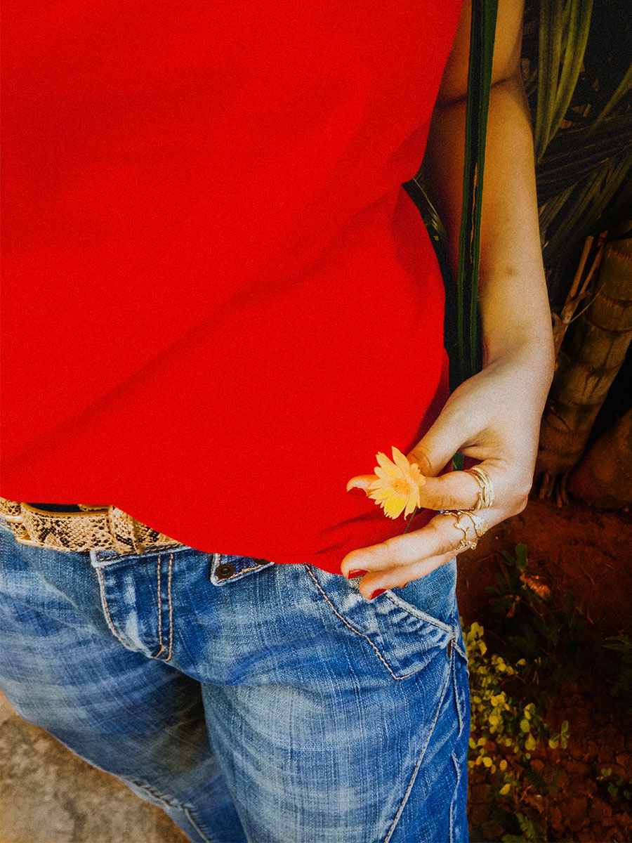 Next Red basic T-Shirt , Levi's Denim ,Zara ballerinas, styleblogger