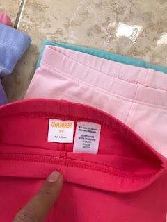Quần legging đùi bé gái xịn dư made in Vietnam hiệu Gymboree.