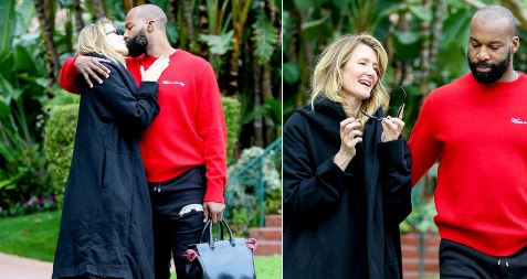 Laura Dern and Baron Davis
