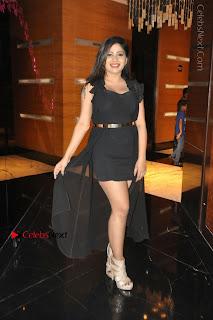 Telugu Actress Model Madhulagna Das Latest Spicy Stills in Black Short Dress  0031.JPG