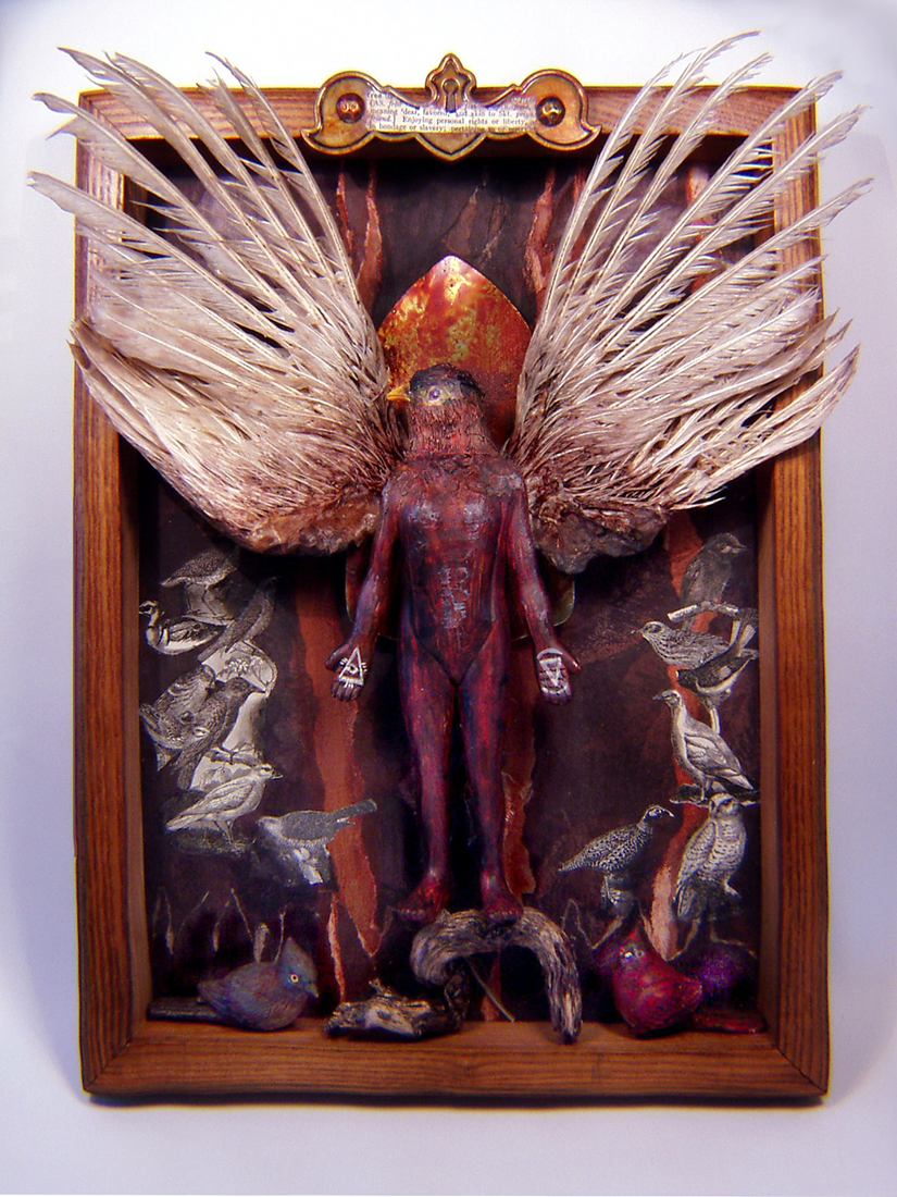 Mixed Media Manic New Altered Art Assemblage Or Shrine