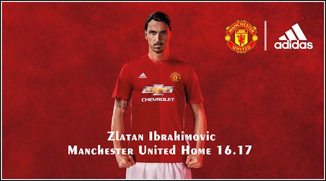 Manchester United Home Kit 2016-17 Zlatan Ibrahimovic