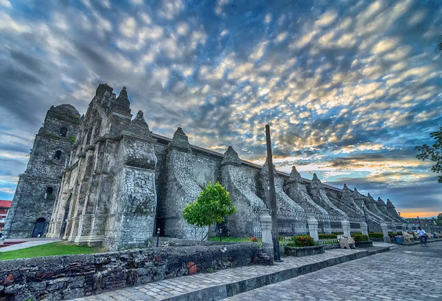Saint Augustine Church Dawn Spanish Iglesia de San Agustín de Paoay commonly known as the Paoay Church Ilocos Norte Philippines