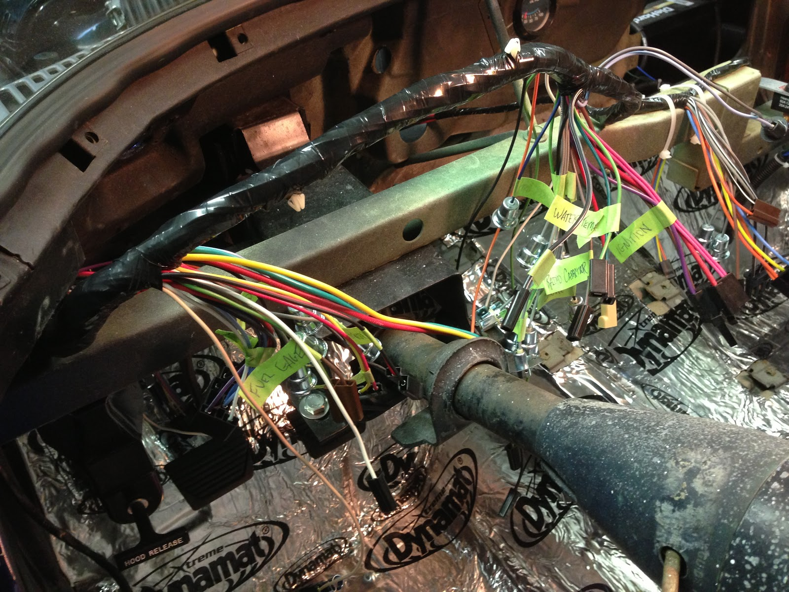 small resolution of the dash wiring harness includes the fuse box which is authentic right down to the glass fuses