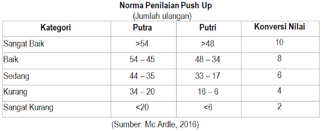 norma tes push-up