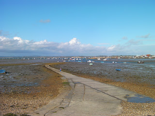 slipway at eastney marina at low tide