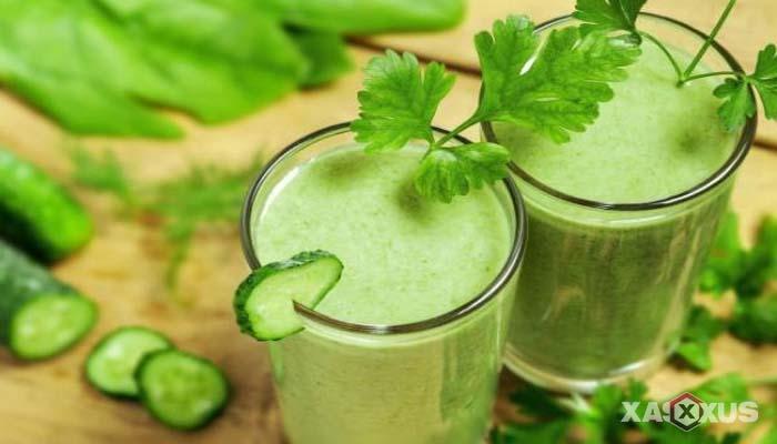 Minuman untuk diet alami dan cepat - Jus mentimun dan adas