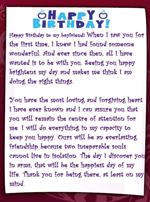 Birthday paragraph for her sample birthday letters for sample birthday letters for girlfriend altavistaventures Images
