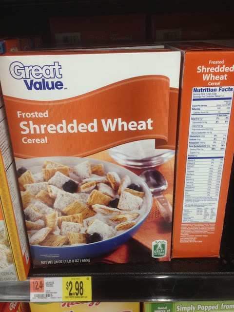 Frosted Shredded Wheat Cereal, Great Value - Walmart