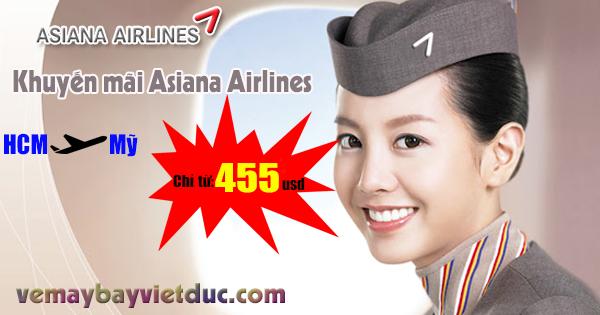 khuyến mãi đi Mỹ hãng Asiana Airlines mới nhất
