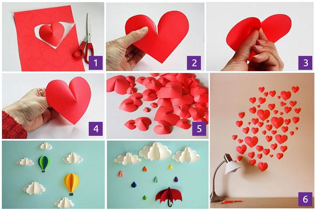 First Beautiful Red Hearts Wall Decoration