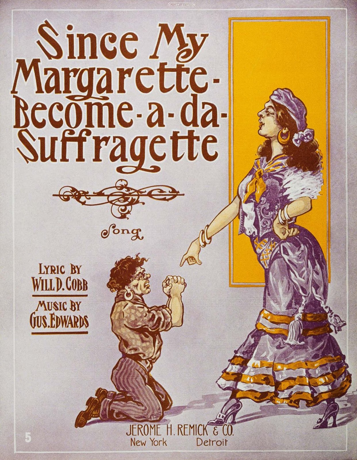 A satirical suffrage-themed songbook. 1910.