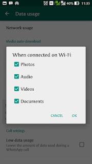 Cara Menghemat Data Internet Saat Memakai WhatsApp di Android | andromin