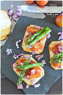 Tosta Vegetal de trigueros, tomate y queso