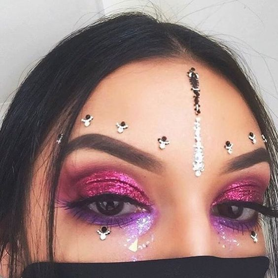 make-up summer look pink