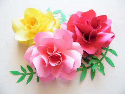 Paper Rose Template 13