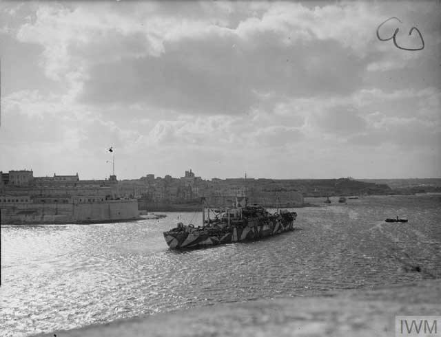 British freighter Glengyle at Malta, 8 January 1942 worldwartwo.filminspector.com