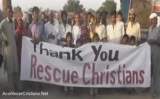 Esclavos cristianos libres en Pakistán
