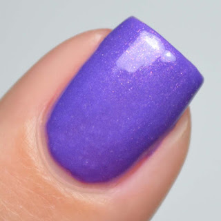 purple nail polish with shimmer