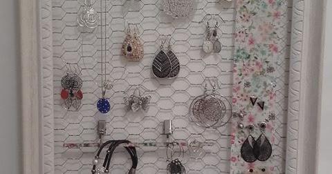 diy cadre porte bijoux. Black Bedroom Furniture Sets. Home Design Ideas