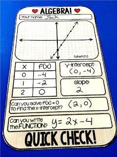 Algebra warm up template.