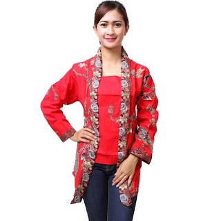 Model Baju Batik Kantor Terbaru Modis