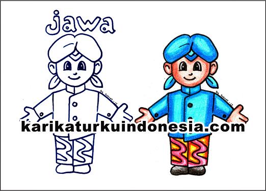 Karikaturku Indonesia Mewarnai Pakaian Adat Jawa Tengah Pada Tema
