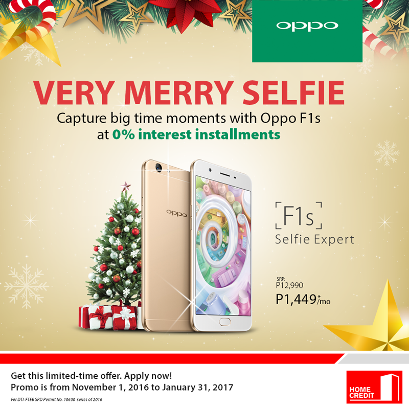Get OPPO F1S at 0% Interest