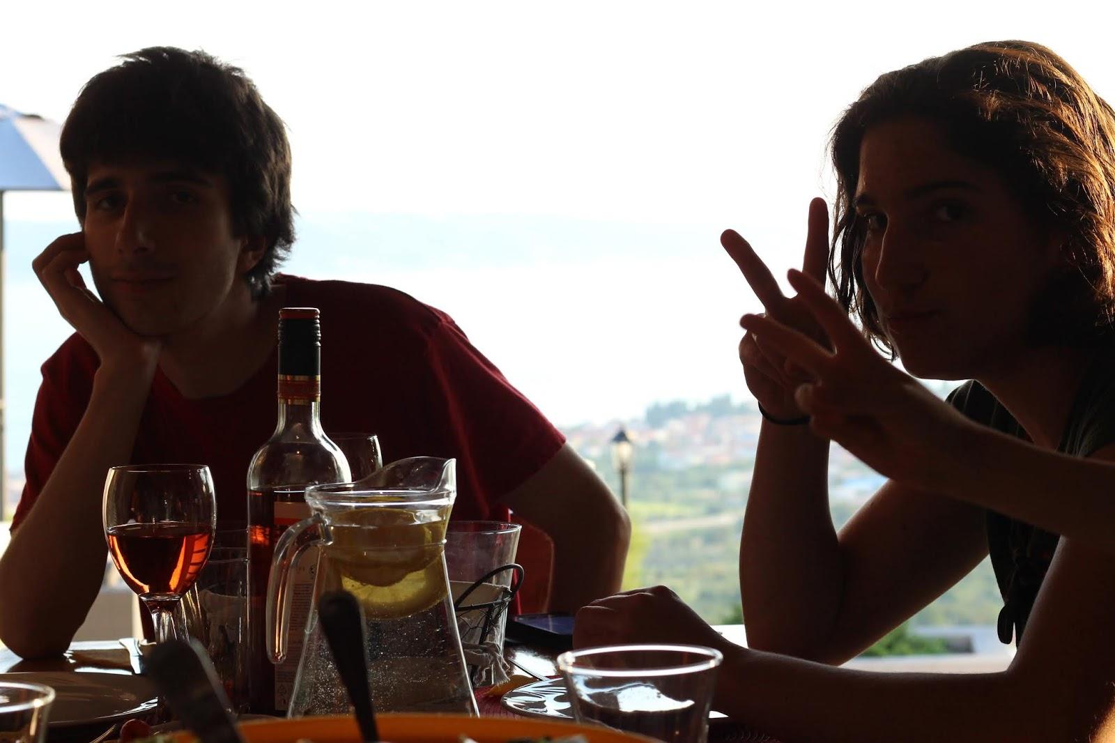 Johannes und Sophie in Kroatien in der Villa Hill View
